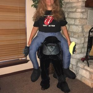 "Plush ""ride on"" gorilla monkey costume"